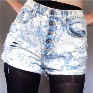 Carmar Button Fly high waist denim Jeans Acid Wash
